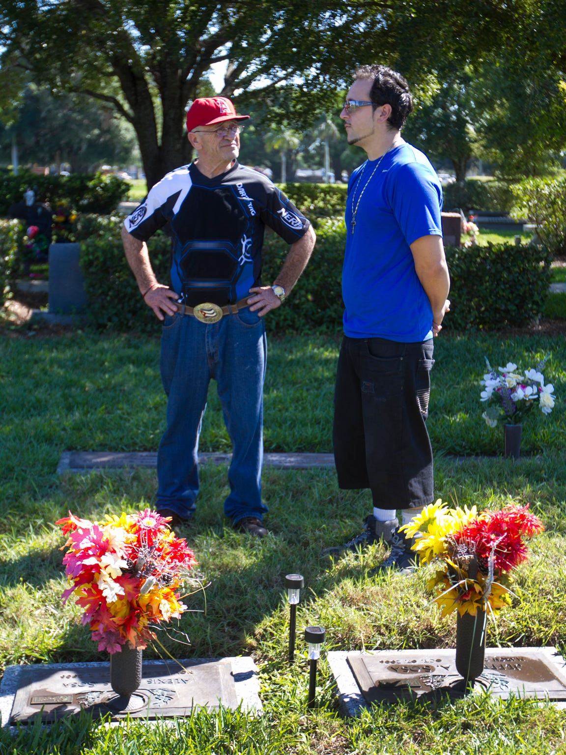 Alfredo and his son Michael Sosa were shocked to learn