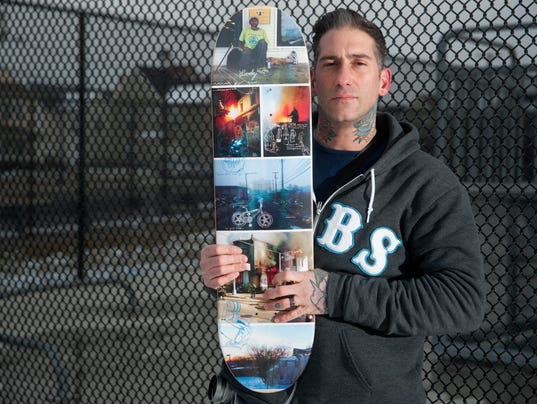 Camden photos find their way to skateboard