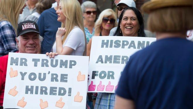 Donald Trump fans in Phoenix.