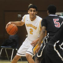 Senior Anthony Qasawa had a well-rounded game for the Raiders in their win over the Black Hawks.