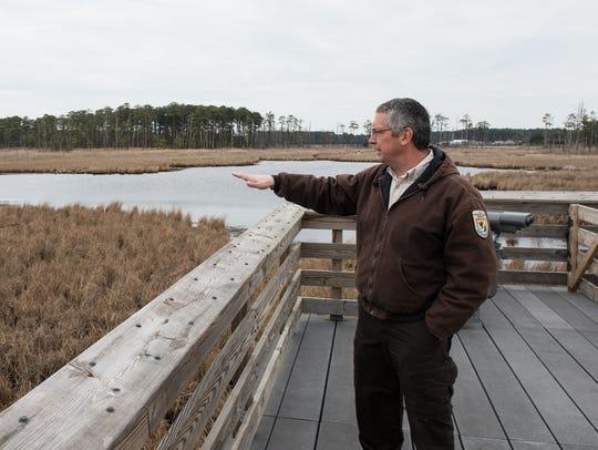 Matt Whitbeck, Supervisory Wildlife Biologist, explains