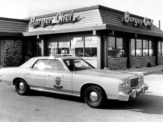 Burger Chef restaurant at 5725 Crawfordsville Road. The employment place of four employees, whose  bodies were discovered in a wooded area in Johnson Co.