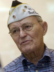Pearl Harbor survivor Tom Hill, in 2006