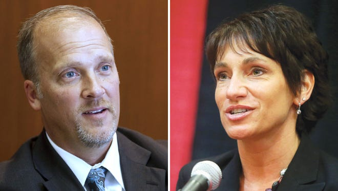 Republican Brad Schimel, left, and Democrat Susan Happ will face off in the race for Wisconsin attorney general.