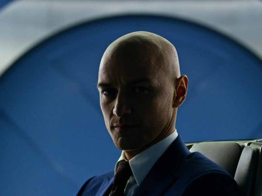 "James McAvoy plays Charles Xavier in ""X-Men: Apocalypse."""