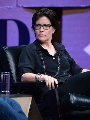 """Re/code co-executive editor Kara Swisher speaks onstage during """"Missing Ink: The New Journalism"""" at the Vanity Fair New Establishment Summit at Yerba Buena Center for the Arts on Oct. 8, 2014, in San Francisco."""