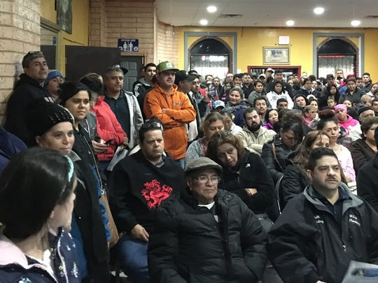 United Hispanic Workers of Detroit holds a forum for immigrants on Nov. 28, 2016, at El Nacimiento Restaurant in Detroit.