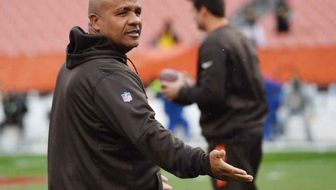 First-year Browns coach Hue Jackson never could have imagined his team would lose its first 13 games.