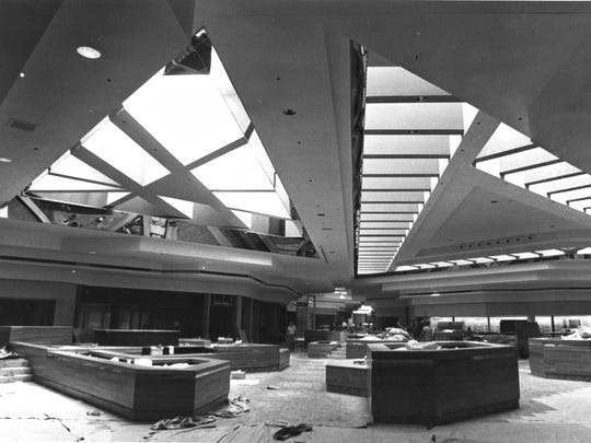 A look inside the Lakeview Square Mall prior to when it was finished in 1983.