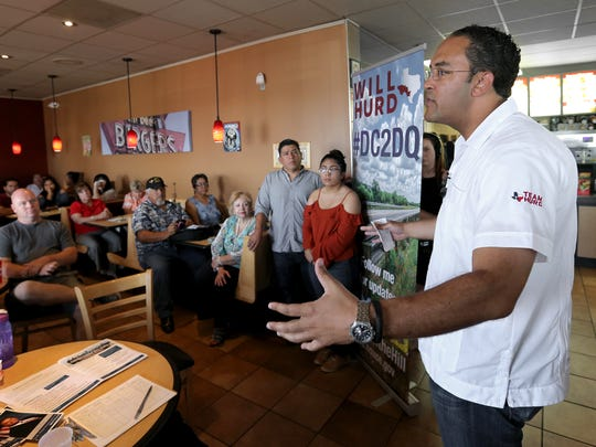 U.S. Rep. Will Hurd held his first of 20 town-hall