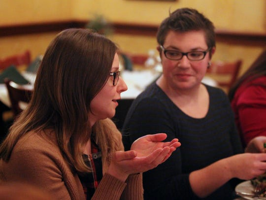 The club founders, Ashley Maraffino, left, and Katie