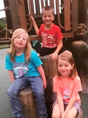 Left to right: Hailieann Pollitt, 9, Brenden Pollitt, 8, and Cailie Pollitt, 6, were killed in a car accident with their parents Samantha Malohn Rodney Pollitt Jr. in Independence on Oct. 26, 2017.