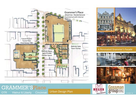Martin and Marilyn Wade are planning a big mixed-use development near Walnut and Liberty streets in Over-the-Rhine called Grammer's Place. The multiphase project would add apartments, single-family homes, renovated commercial space and parking in the neighborhood.