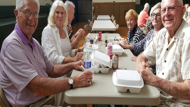 Three hundred chicken dinners were sold June 17 at St. Thomas Aquinas in Binghamton.