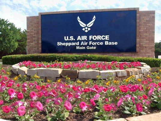 Sheppard Air Force Base main gate