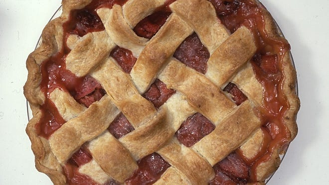 Rhubarb and strawberry pie joins the tart flavor of rhubarb with the sweetness of sun-kissed strawberries.