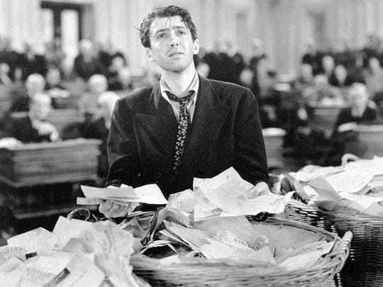 "James Stewart stars in the 1939 film ""Mr. Smith Goes"