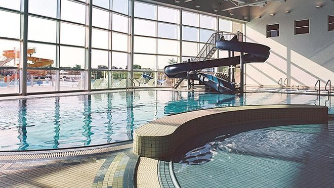 A zero-entry family pool and lap pool at the North YMCA in Wichita, Kansas, illustrates one of the features possible at the proposed St. Cloud Area YMCA aquatics and community center.