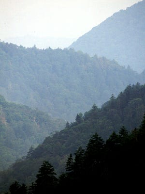 The Great Smoky Mountains on the Tennessee-North Carolina border, here Aug. 16, 1996, are seriously affected by air pollution and acid rain.