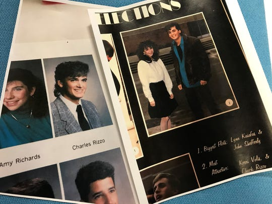 Chuck Rizzo pictured in the 1989 Grosse Pointe North High School yearbook.