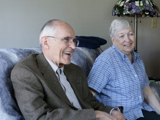 In this April 13, 2017  photo, Jack and Sandy Daniels