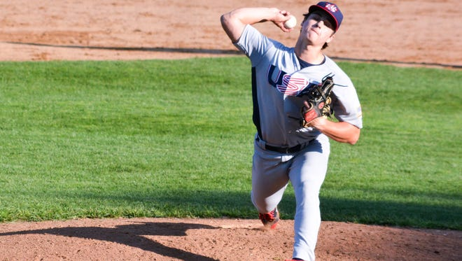 Brandon's JT Ginn pitches for Team USA 18U team as part of the 20-man roster.