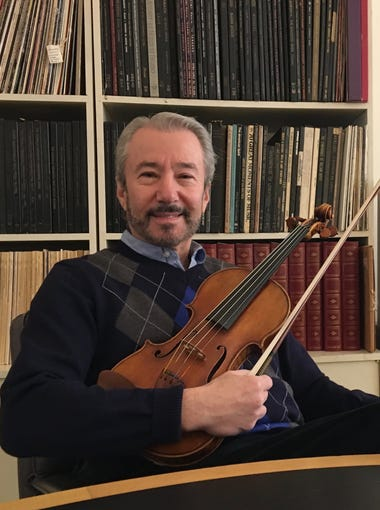 Founder and Artistic Director of Heifetz International Music Institute Daniel Heifetz sits inside the Institute's office on Beverley Street in downtown Staunton, Virginia, on Tuesday, Jan. 2, 2018 to discuss his announcement to retire as the Institute's Artistic Director and shift into the position as Artistic Director Emeritus at the end of the summer in 2019.