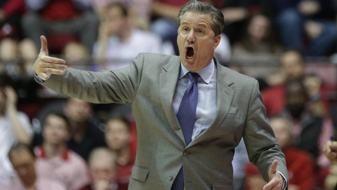 Kentucky Wildcats head coach John Calipari during the second half against Alabama Crimson Tide at Coleman Coliseum on Feb. 11.