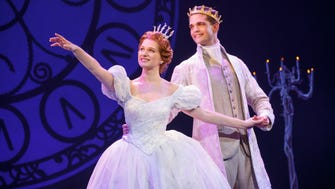 "Wisconsin native Tatyana Lubov (left) and Hayden Stanes perform in the national touring company of ""Cinderella."""