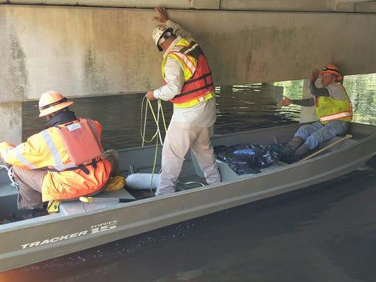 SCDOT crews work to repair damage after floods.
