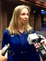 LeAnn Carr, coach of the El Paso Aqua Posse speaks