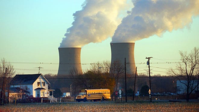 Fermi 2 nuclear power plant's cooling stacks are pictured in Frenchtown Township. The plant endured no damage after an earthquake occurred in the region last week, according to officials.