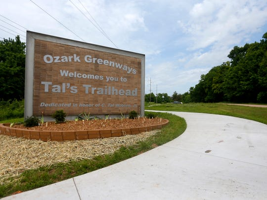 A new trailhead connects two popular Greenways, the 3-mile Wilson's Creek trail and 7-mile South Creek trail.