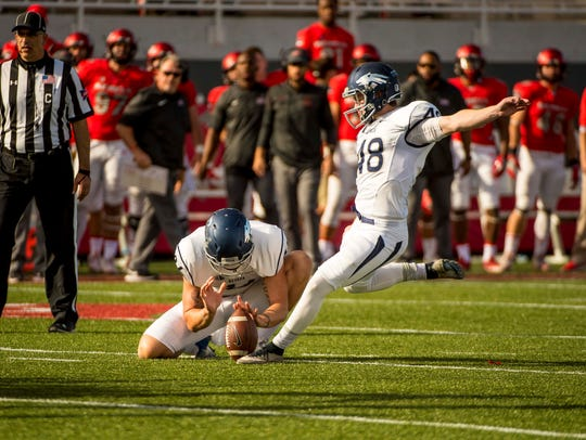 Wolf Pack place kicker Spencer Pettit, shown last season, made 8-of-11 field goals.