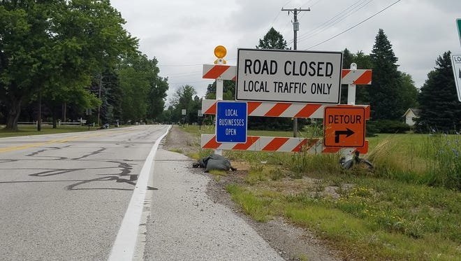 The St. Clair Highway near the Pine River has been closed to through traffic since spring 2013.