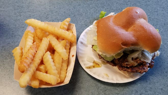 At Schaller's Brighton, the cheeseburger had lots of meat and the fries were nice and crunchy.