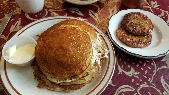 The meltaway pancakes achieve that rare golden mean.
