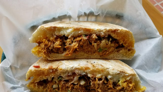 The torta at Guacamole was the perfect portion for lunch.