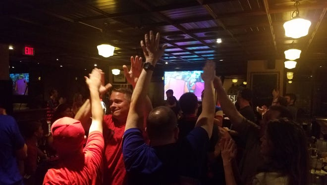 Roughly 60 fans gathered Wednesday night at Rí Rá Irish Pub in downtown Evansville to watch the United States men's national soccer team defeat Jamaica 2-1 in the CONCACAF Gold Cup Final.
