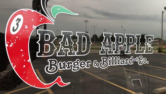 Bad Apple's logo on its front door.