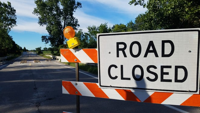 The roadway on Kilgore Road between Bryce and Imlay City roads in Kenockee Township is closed for bridge work over the southern branch of the Pine River.