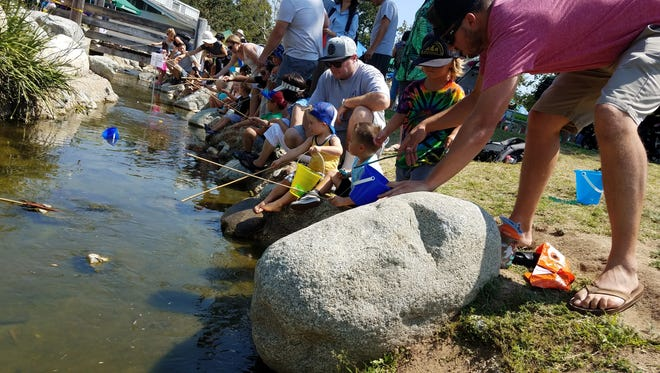 Children and parents alike participated in the 2017 Fishing Frenzy in Thousand Oaks organized by the Conejo Recreation and Park District.