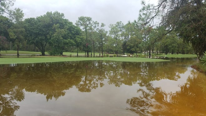 Water stands on one of the courses at Quail Creek Country Club on Monday, Aug. 28, 2017, after 13.5 inches of rain fell over the weekend.