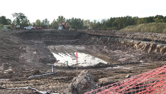 Appleton's new stormwater pond is under construction north of County OO.