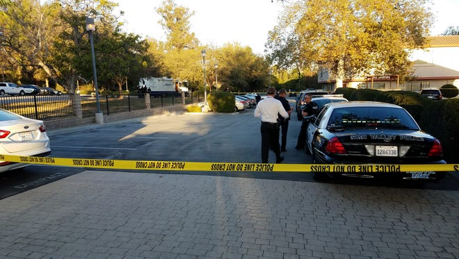 This was the scene Wednesday evening in the 2700 block of Alamo Street in Simi Valley, where an officer shot a man who'd fled the hospital, where he'd been detained on a mental health hold.