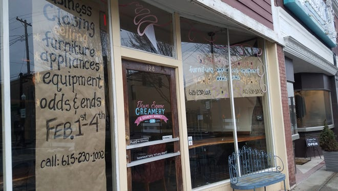 Town Square Creamery and Country Market is closed on the square in Gallatin.