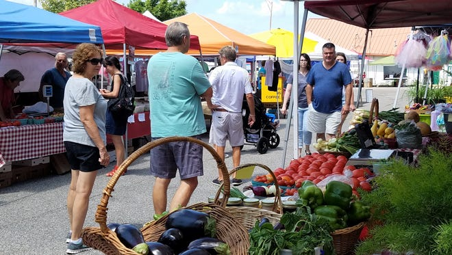 Produce, baked goods, clothing, rugs, coffee, soap, olive oil, dog treats, and much more made within 60 miles of Newburgh is available at the Historic Newburgh Farmers Market on Saturday mornings through September.