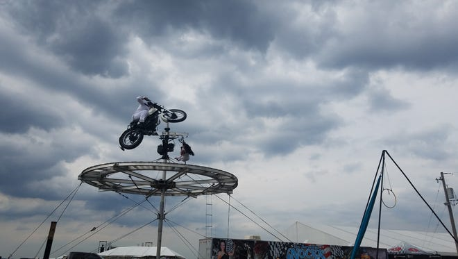 The Nerveless Nocks Thrill show is a new addition to the Waukesha County Fair, performing stunts and acrobatics. Shows will be held daily at the fair, on Friday, July 20 at 4, 5:30, and 7 p.m., Saturday, July 21 at noon, 2, 4:30, and 6 p.m., and on Sunday, July 22 at 10:30 am., noon, 2 and 4:30 p.m.