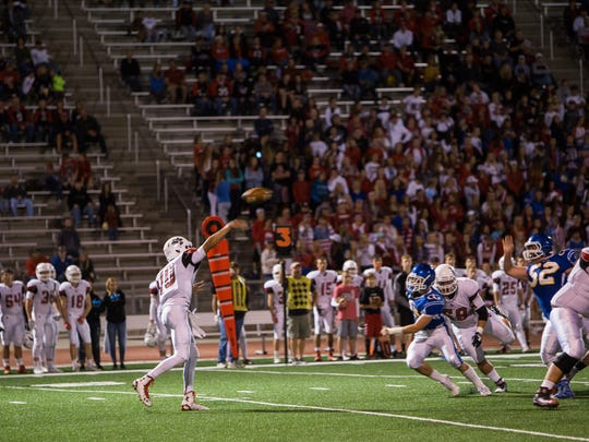 Alex Walter sends out a pass for Brandon Valley at