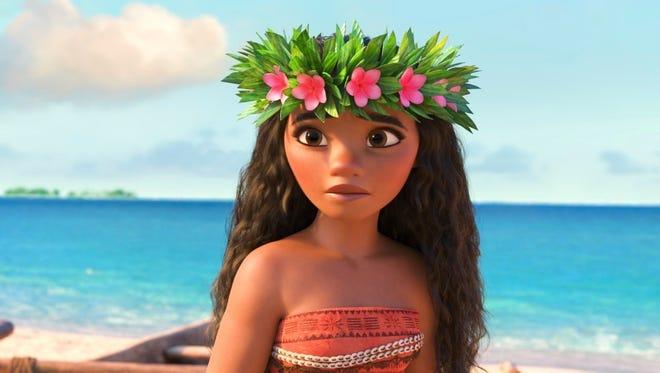 "Moana is voiced by Auli'i Cravalho in the animated film ""Moana."""
